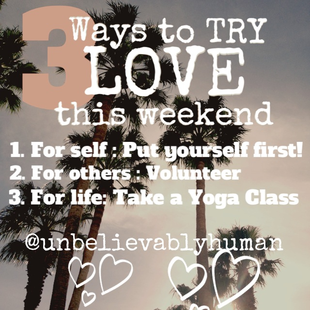 3 ways to try love