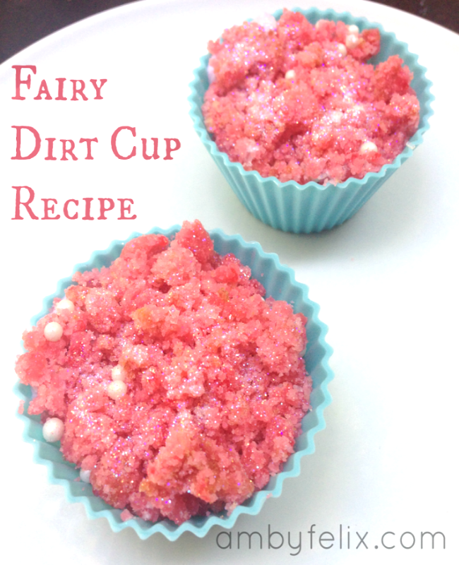 Amyfelix.com Fairy Dirt Cup recipe