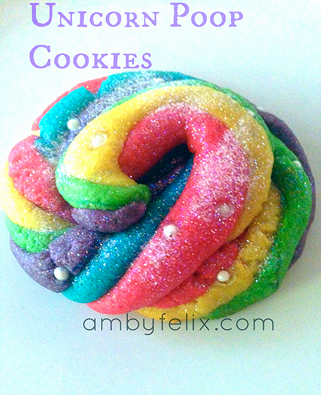 Unicorn Poop Cookie from AmbyFelix.com