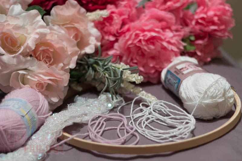 DIY Flower Chandelier Supplies