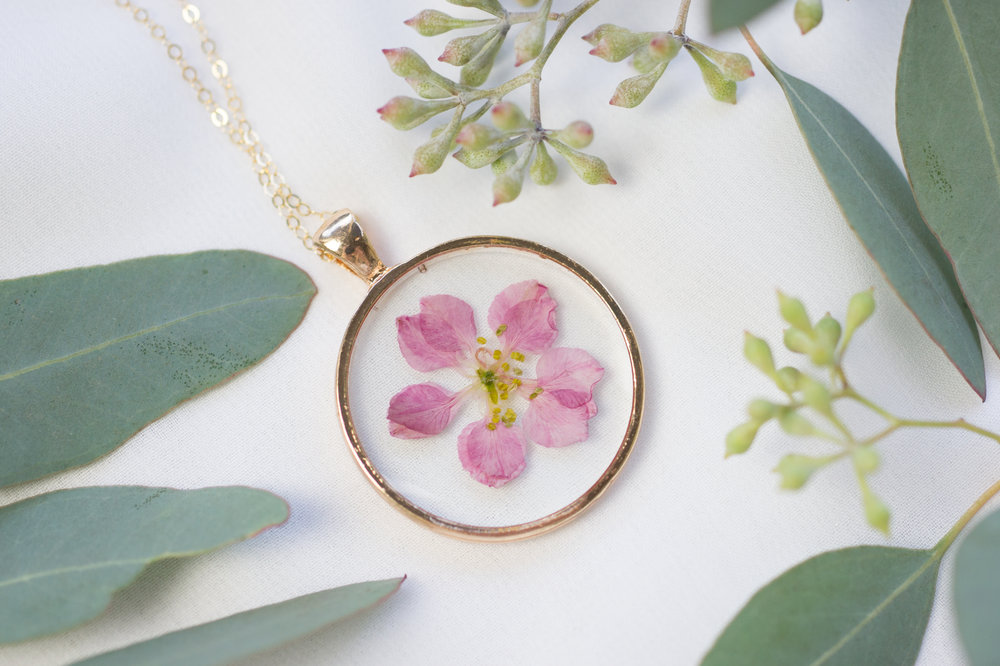 Special Day Keepsakes - Custom pressed flower necklaces from your special day.