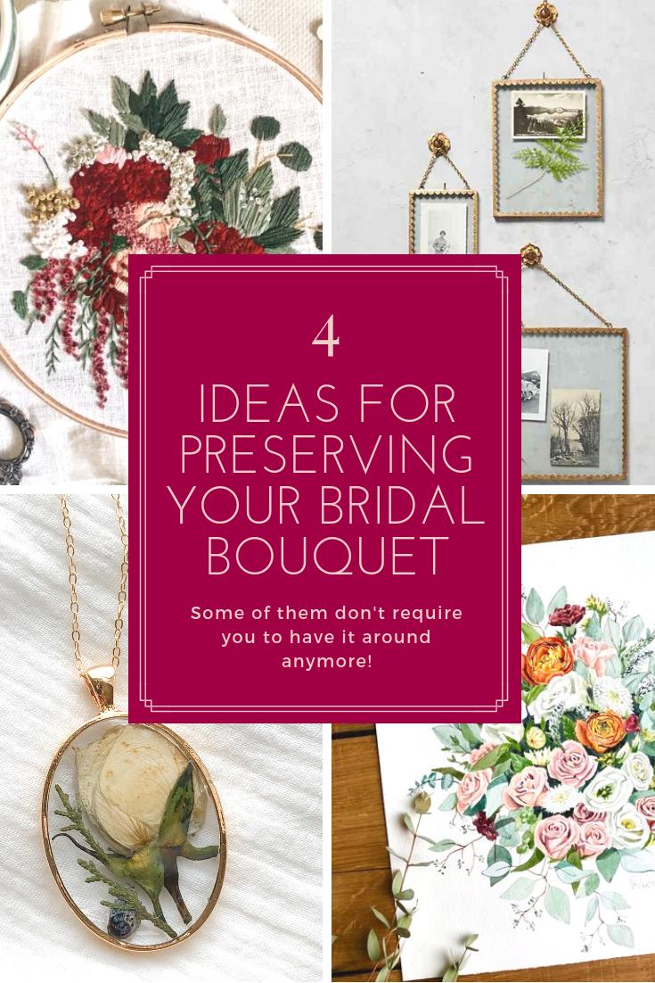 4 Ideas for Preserving Your Bridal Bouquet