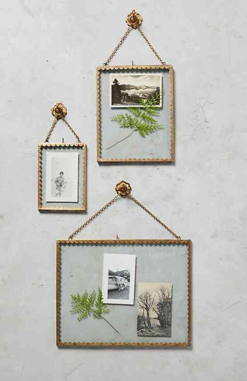 - A great way to display leftover pressed flowers is in a clear glass hanging frame. Pro tip: The best way for this to work is to have flat blooms. One way to do this if you have bulky flowers like roses or peonies is to pick the petals off of them and press those. For flowers like hydrangeas and baby's breath, cut small blooms off and press them, be sure to include some greenery too!