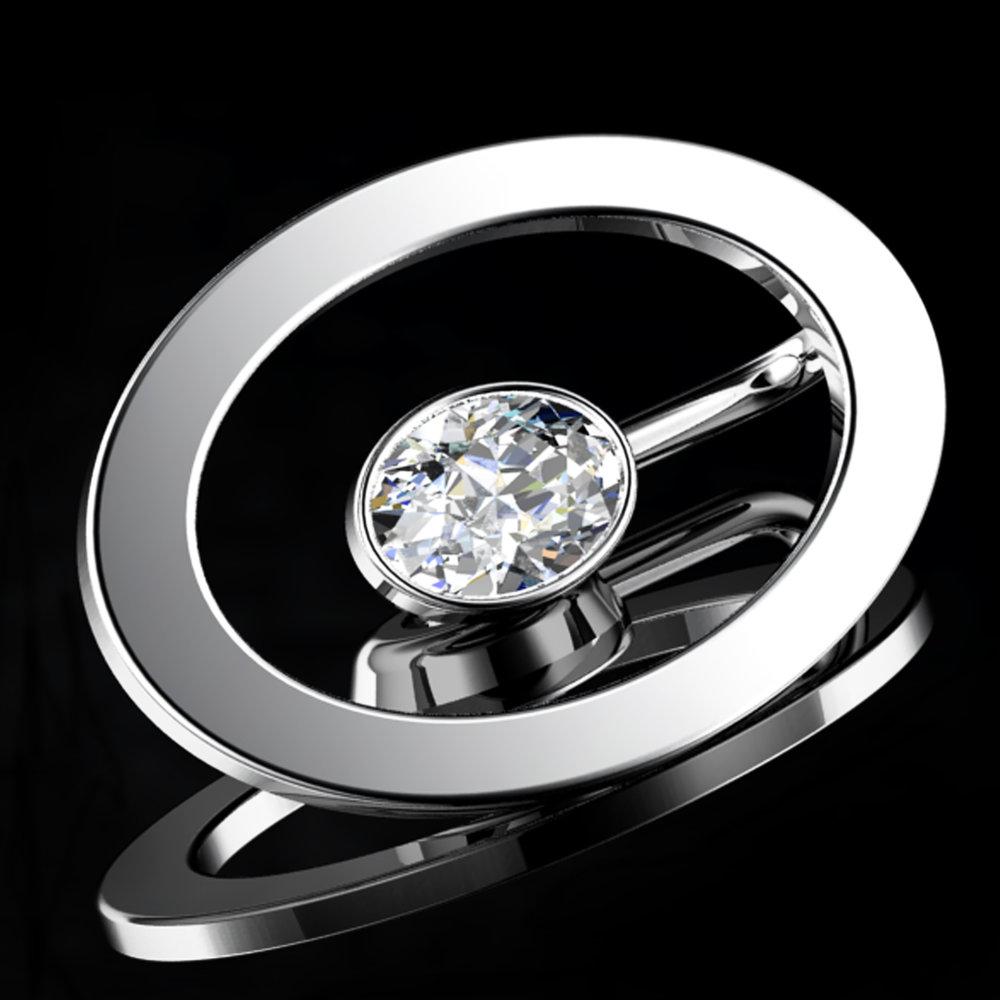 'ETERNO OVAL'® Natural Oval-Cut Diamond • 0.77 Carats • D / VVS1 (G.I.A) • Platinum (Pt.950)