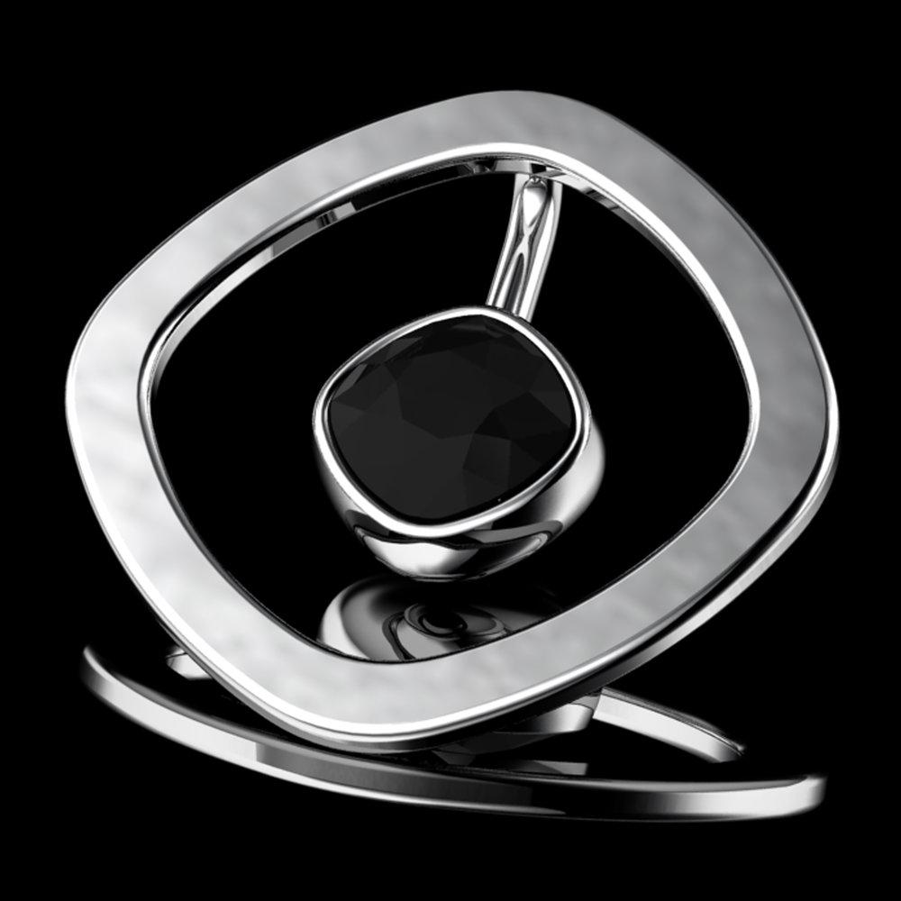'ETERNO CUSH'® Natural BlackCushion-Cut Diamond • 0.85 Carats • 18K White Gold
