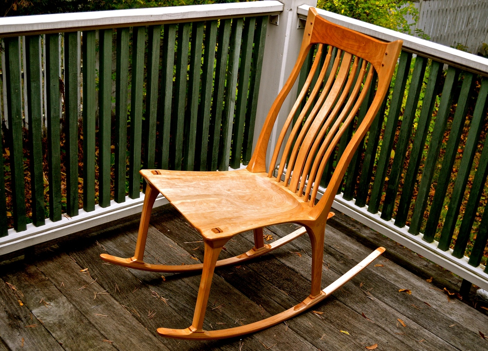 "maple ""mother's"" (armless) rocker"