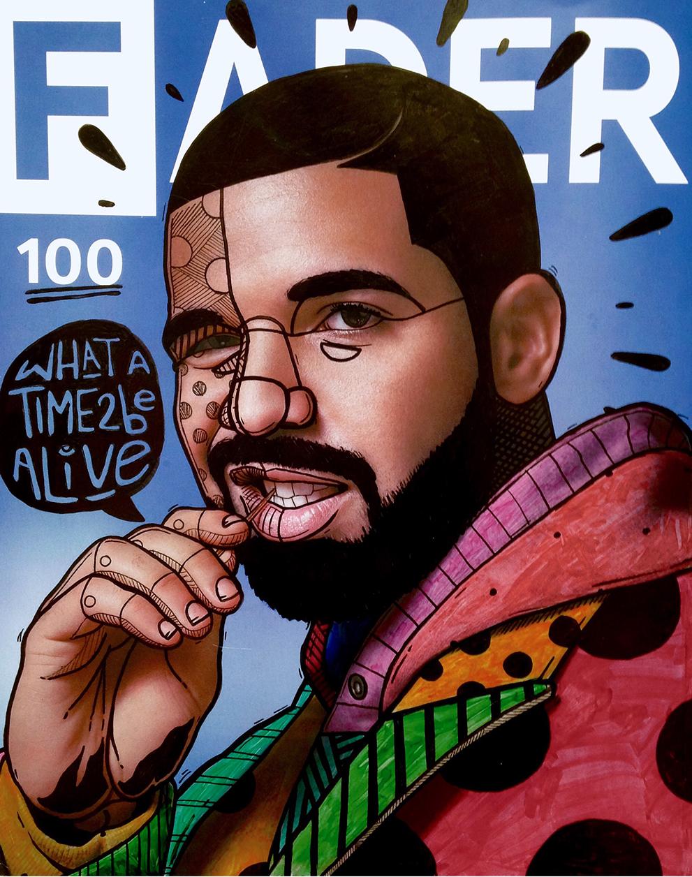 FADER 100, Featuring Drake & Rhianna - Artwork by Founder @AdamEast