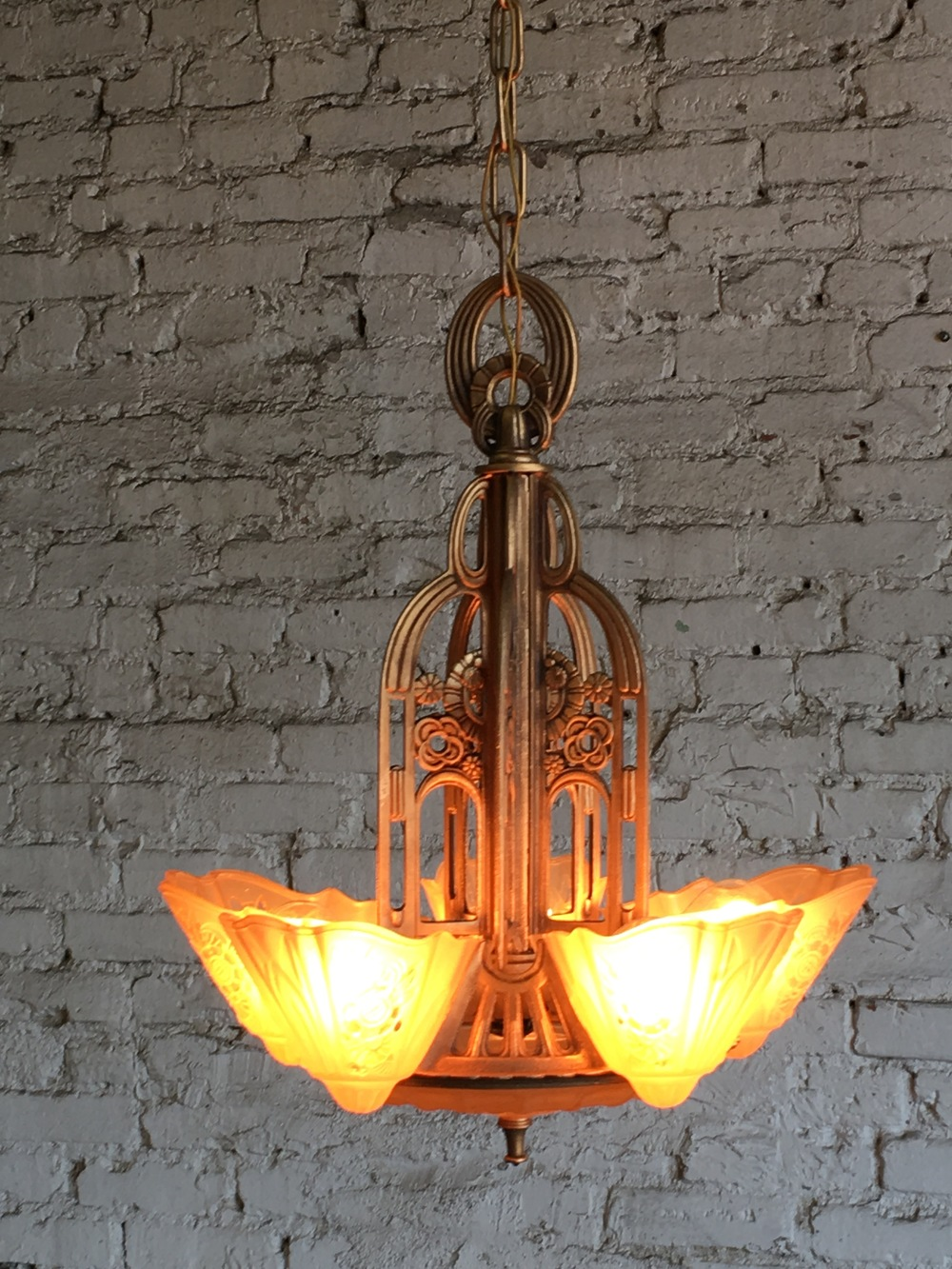 Filament vintage lighting slip shade art deco arubaitofo Image collections