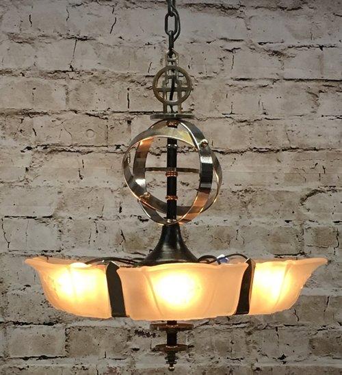 1535 6 light slip shade chandelier aloadofball Gallery