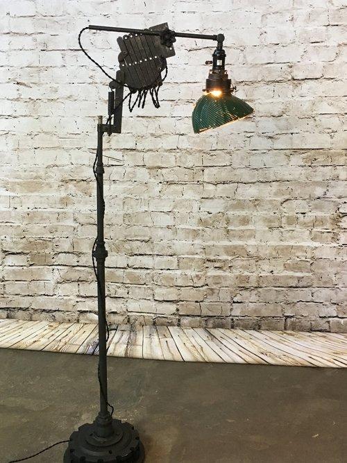 Scissor arm floor lamp vintage shade aloadofball Choice Image