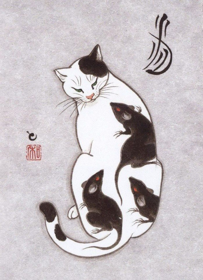 japanese-tattoo-paintings-monmon-cats-kazuaki-horitomo-11.jpg