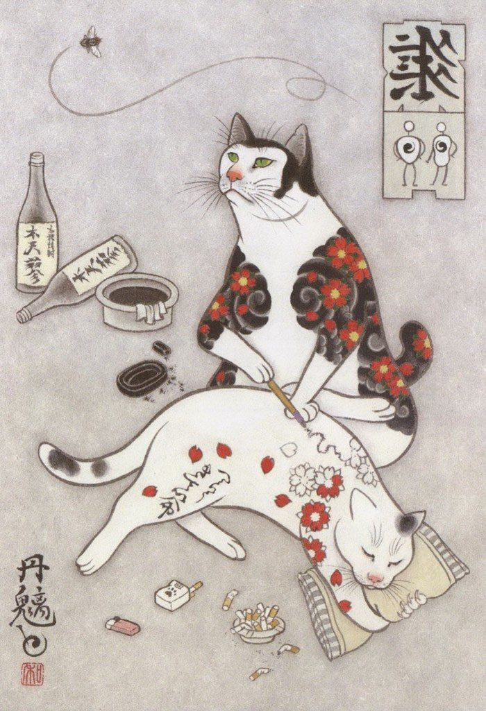 japanese-tattoo-paintings-monmon-cats-kazuaki-horitomo-36.jpg