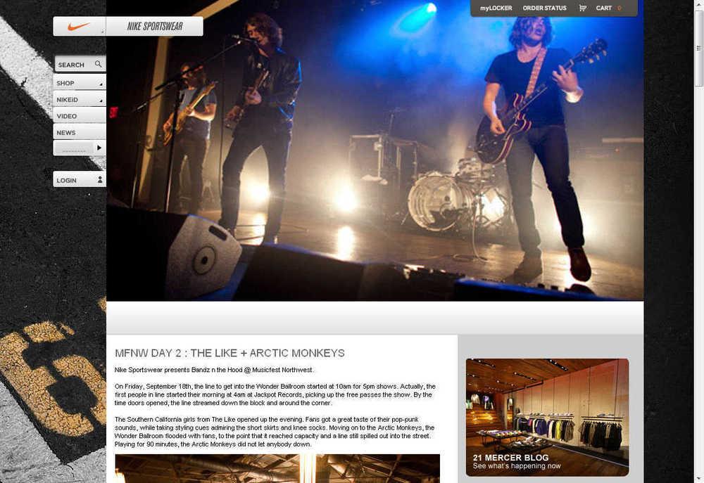 Musicfest NW for Nike Sportswear