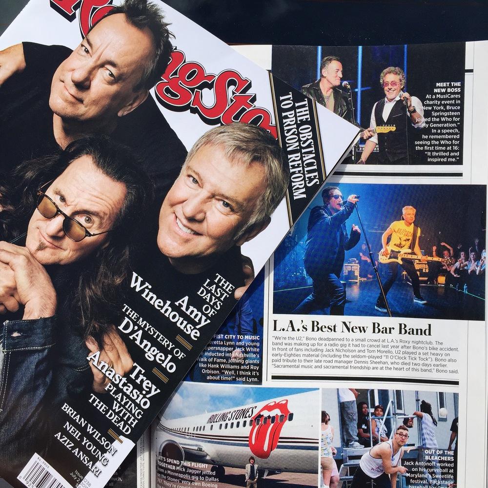 Rollingstone July 2015, U2 at the Roxy