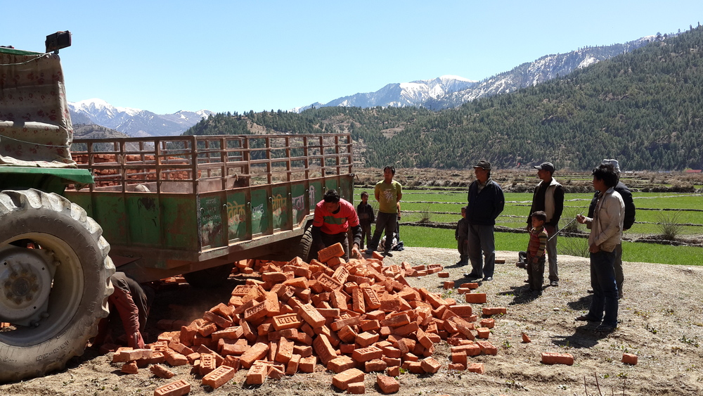 Delivering bricks