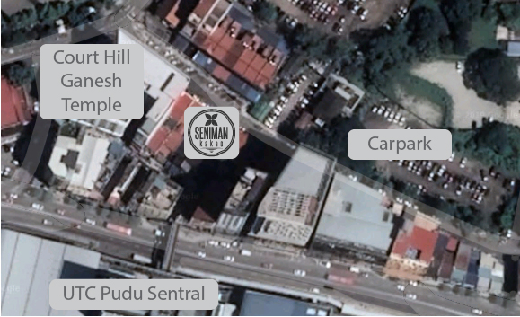 We have parking very close to the café. Just drive on 40 metres and it's on the left. Free parking on the weekends.  We're also very close to the trains at UTC Pudu Sentral.
