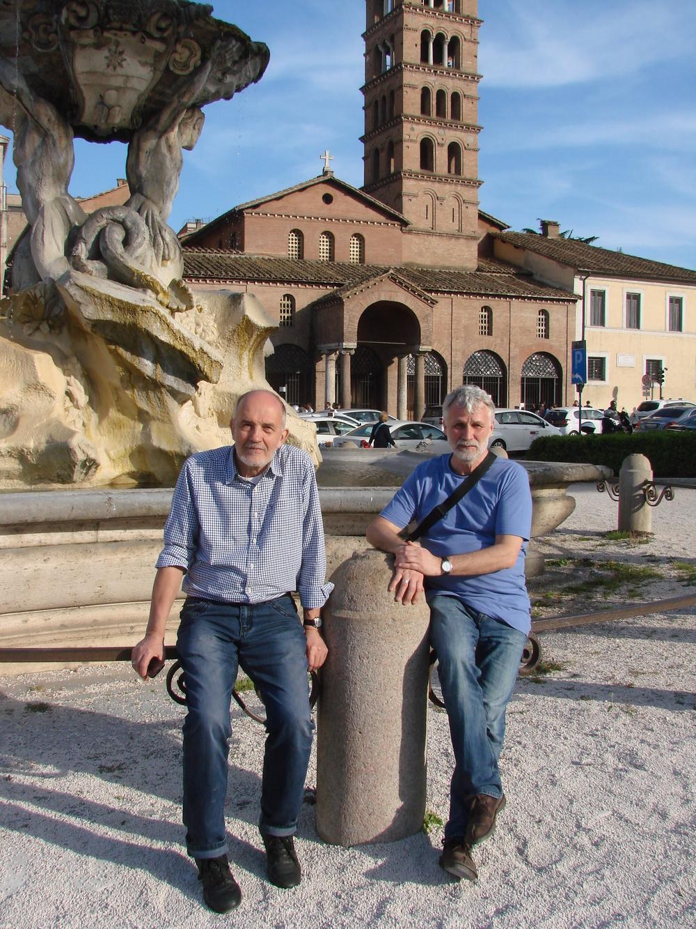 Михаил Кеслер и Юрий Ширяев в Риме