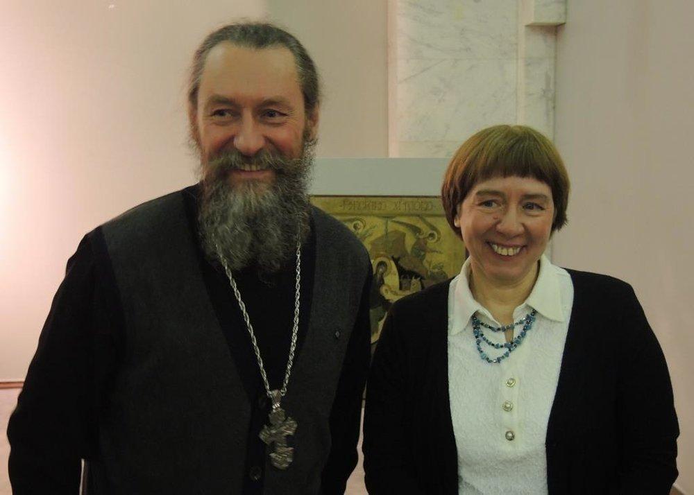 Прот. Андрей Юревич, И. Языкова. Фото Ирины Марковой (ФБ)