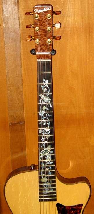 Hawkins Thin Body Guitar Fret Board Inlay