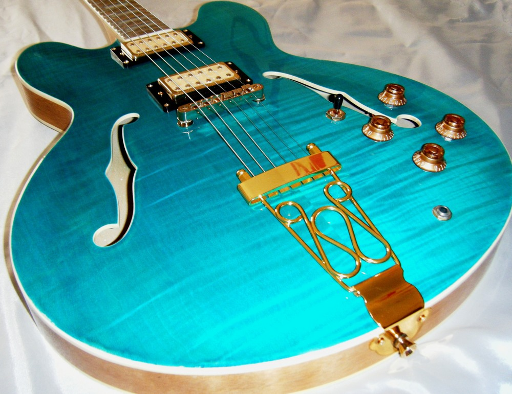 Hawkins Electric Guitar turquoise