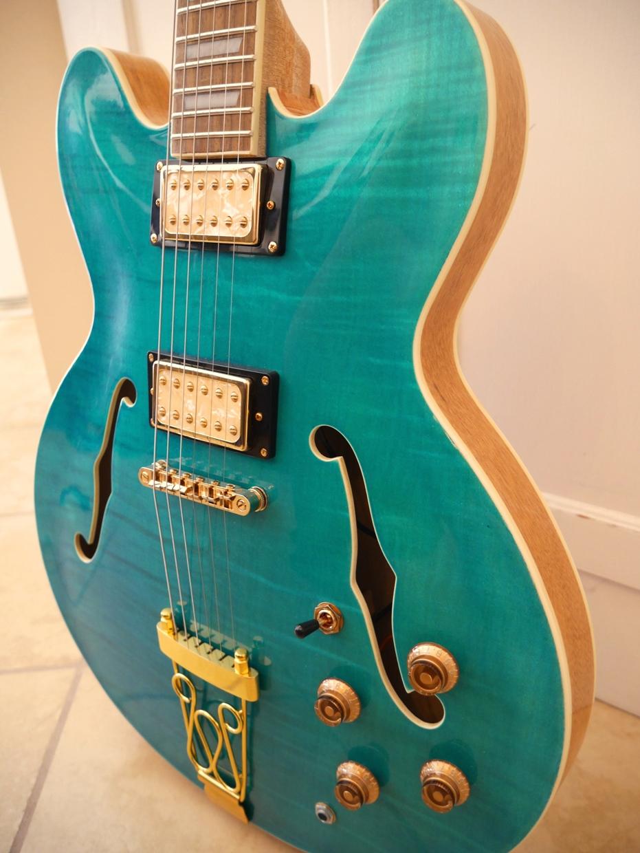 Hawkins Hollow Body Guitar Side