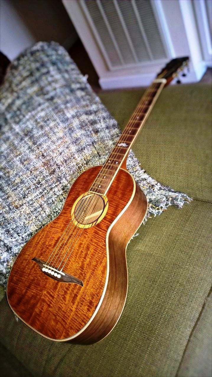 Hawkins Parlor Guitar Resting