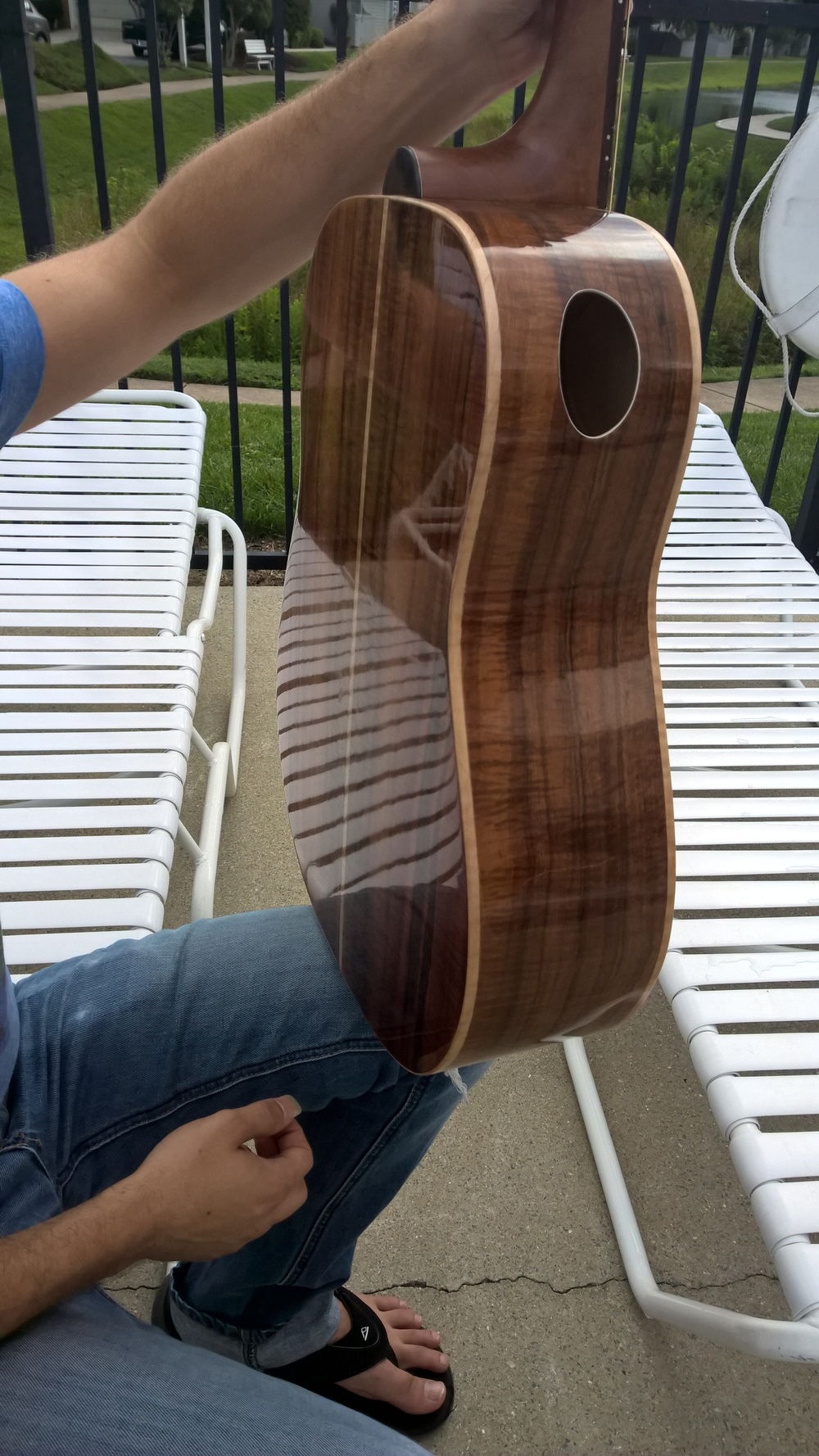Back Hawkins Guitar Koa