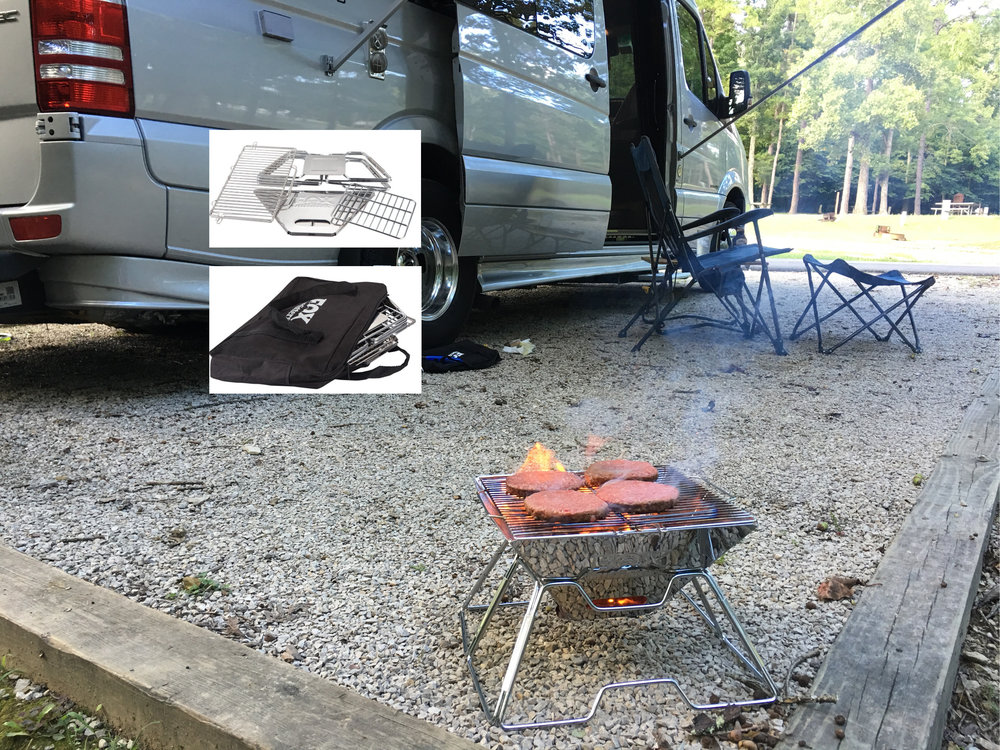 Our current grill -- charcoal, collapsible, cute