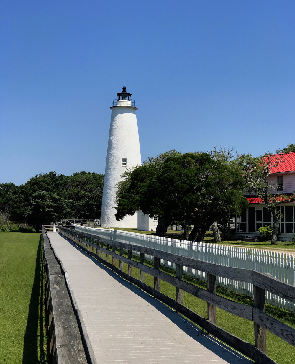 The much smaller Ocracoke Island Lighthouse – the second oldest operating lighthouse in the country