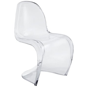 Charmant Slither Acrylic Chair, Clear