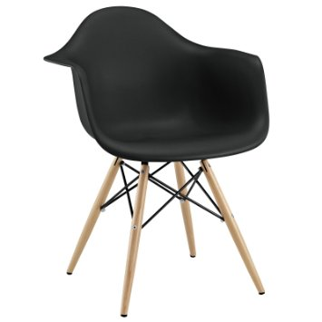 Retro Arm Chair, Black