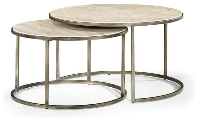 Modern Basics Nesting Cocktail Table Round Suite Exclusive - Round nesting cocktail table
