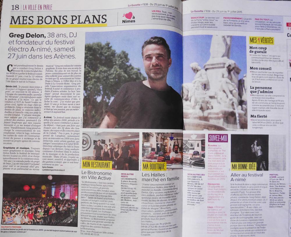 La Gazette de Nîmes, juedi 25 juin 2015