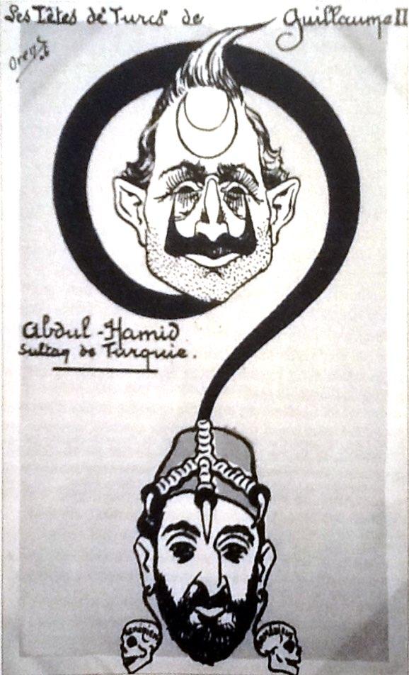 Orens'in Abdülhamid ve Guillaume karikatürü 1906.jpg