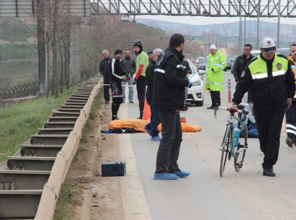 Cenk Sanşan'ın hayatını kaybettiği kaza sonrası. (Kaynak: DHA)
