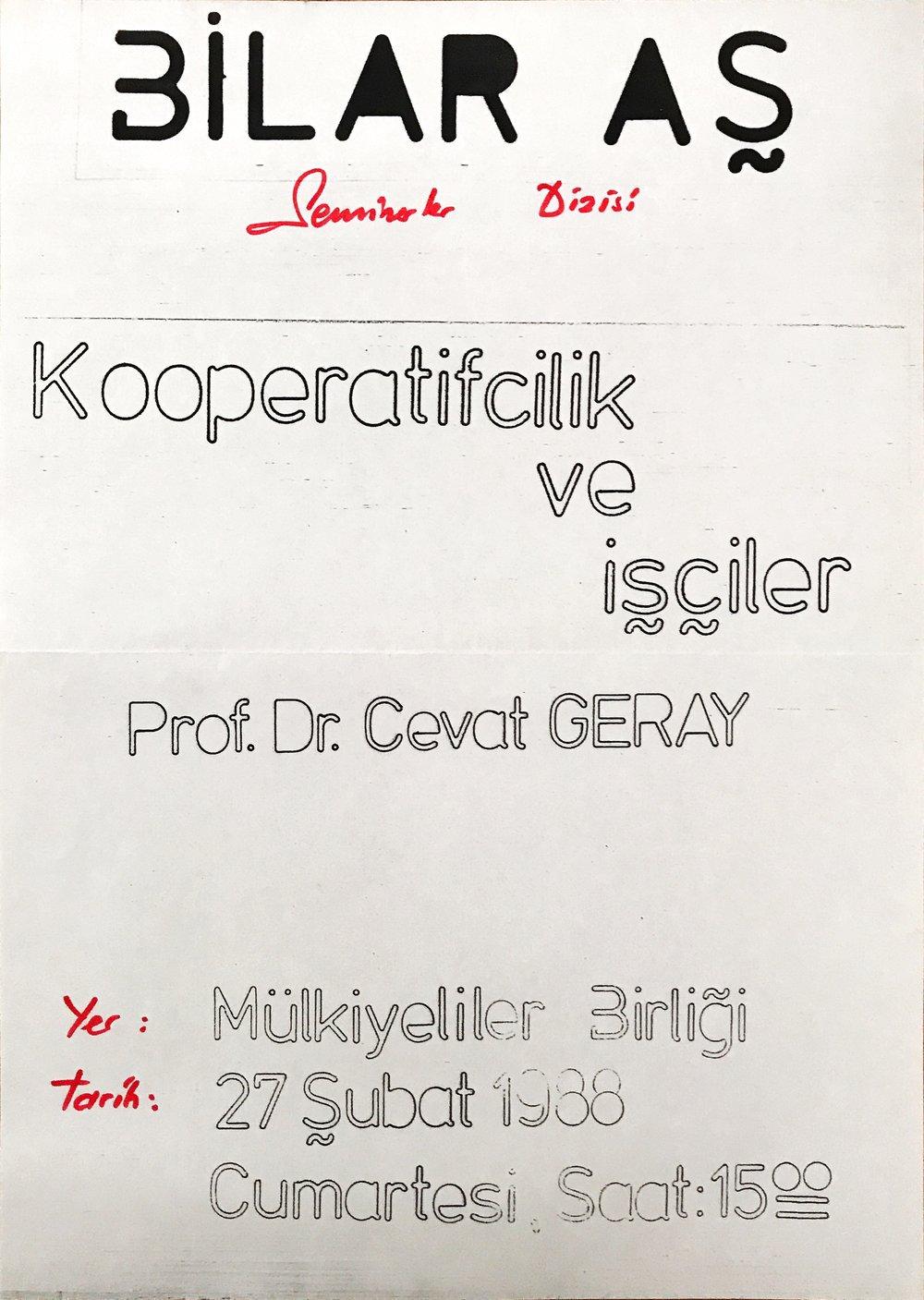 afis-1988-02-27-kooperatifcilik-ve-isciler-cevat-geray-seminer-halukgergerarsivi.JPG