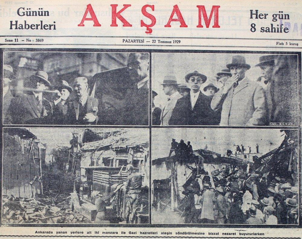 22 Temmuz 1929 Aksam Gazetesi