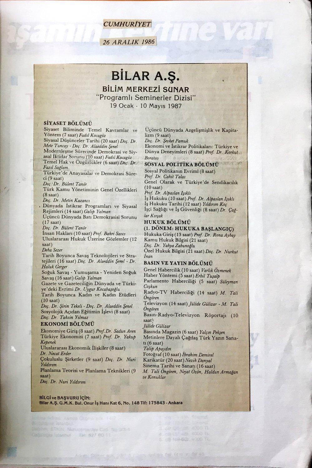 1986_cumhuriyet_bilar-ders-ilani.JPG