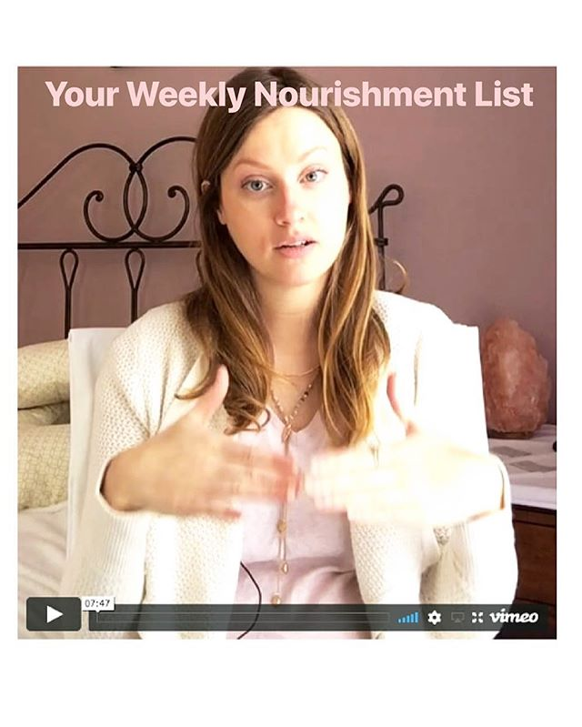Create the time and space for yourself to develop your own weekly nourishment list.  We will create this list together from a deep feminine space of listening in this free video series. :: Adding things into your day that help you connect back to yourself are top priority to live a fulfilling and embodied life.  The list will be there for you when you need to re-energize and connect back into your vitality and pleasure in your day. :: Receive this free video through the Link in my bio (first tab 😉) and create your own Nourishment List. 🌸 #nourishedlife #nourishtoflorish #empoweredwomen #vitality #selfcare #feminineempowerment #weareinthistogether #healthcoach #higherconciousness #vitalwomen #goddessrising #soulstarunicorntribe #theenergeticsofinstagram #divinefeminine #sistersrising #soulprenuer #magictribestyle #magictribe #spiritualgangster #repatterning