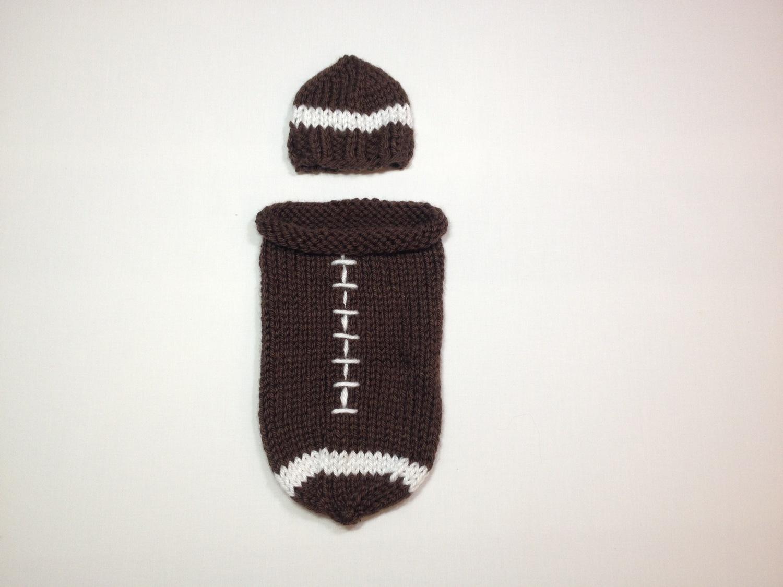 c7dfde9bfb77 Newborn Football Bunting   Cap — Posh