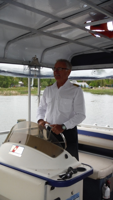 captain gary at the helm