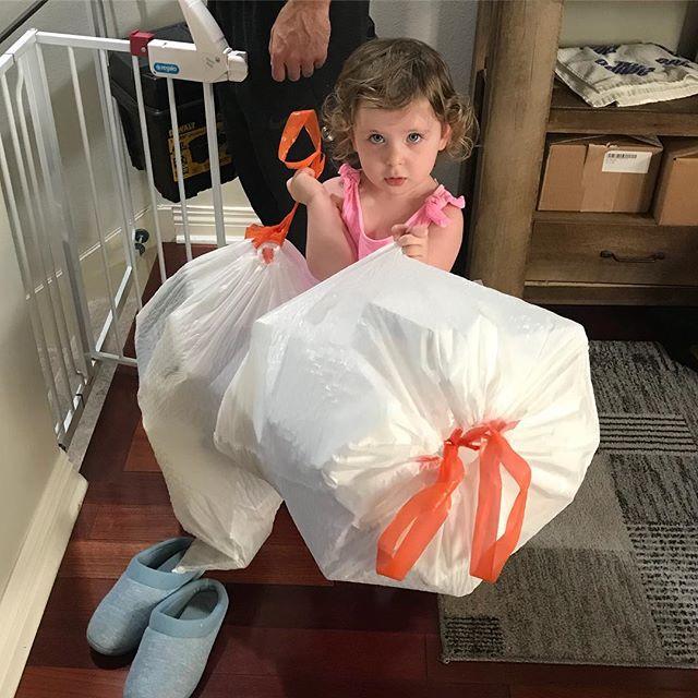 I knew I had a kid for a reason #chores