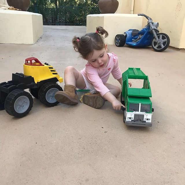 Just a girl and her trucks 😊