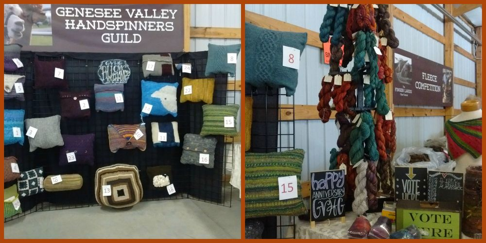 Genesee Valley Handspinners Guild display at the Finger Lakes Fiber Fest