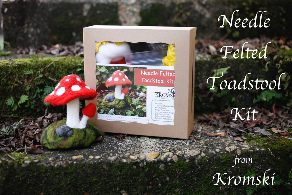 Mushroom Needle Felting Kit