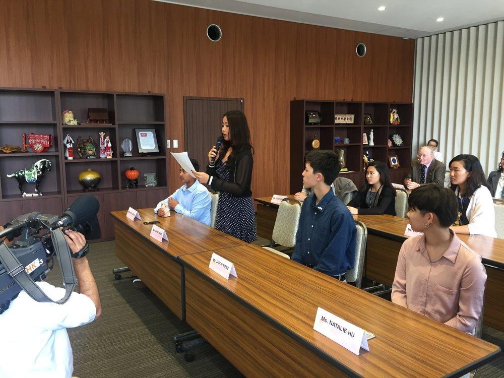 Student speech to Okayama Mayor