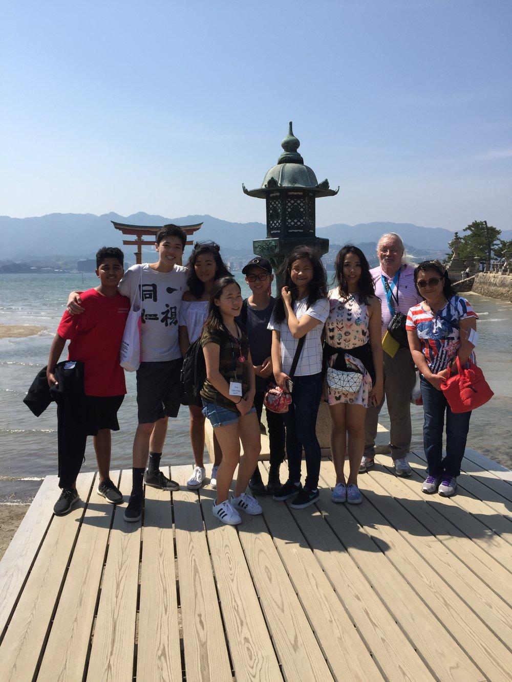Visiting Itsukushima near Hiroshima
