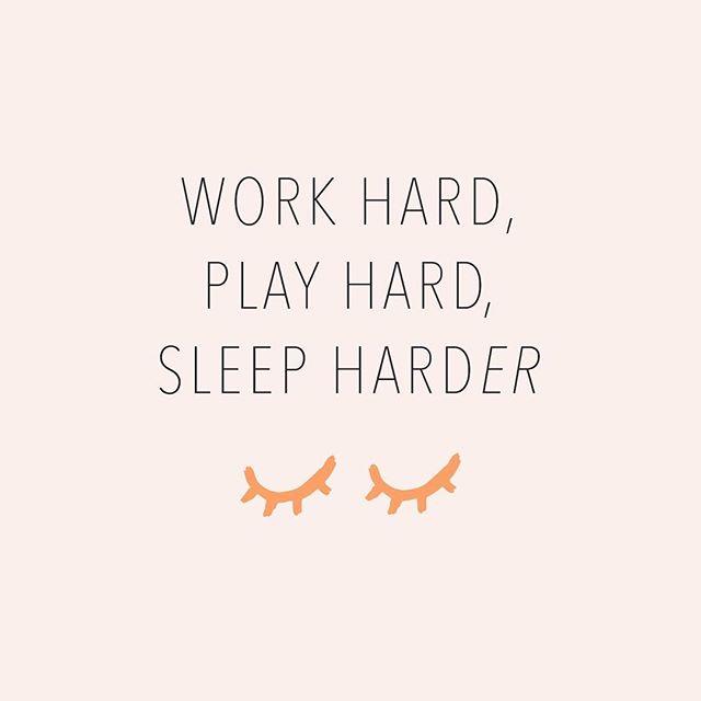 Gotta get the sleep you need to work hard / play hard #temperowe