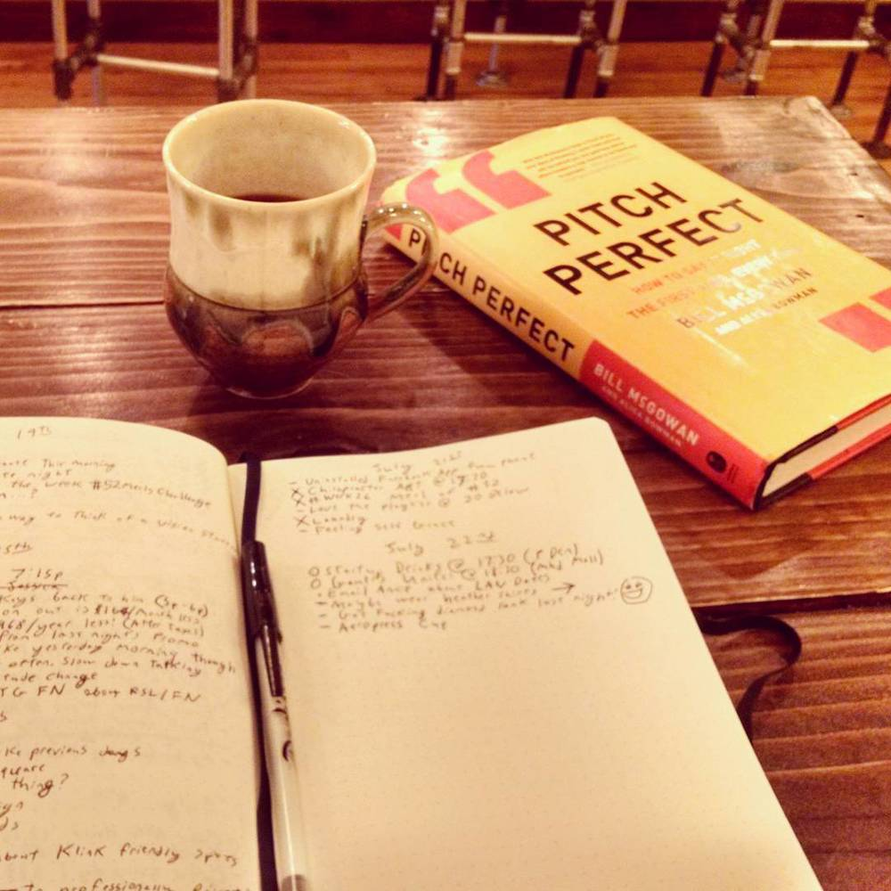 A morning at 20 Below Coffee, journaling and reading.