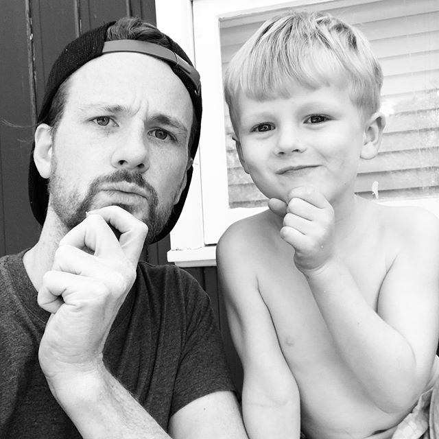 Teaching my nephew to look thoughtful for a selfie. It didn't last... . . . . . #selfie #family #blackandwhite #travel #holiday #MerryChristmas